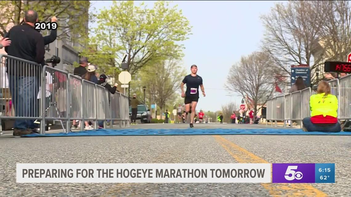 Hogeye Marathon runners prepare for wet start to races