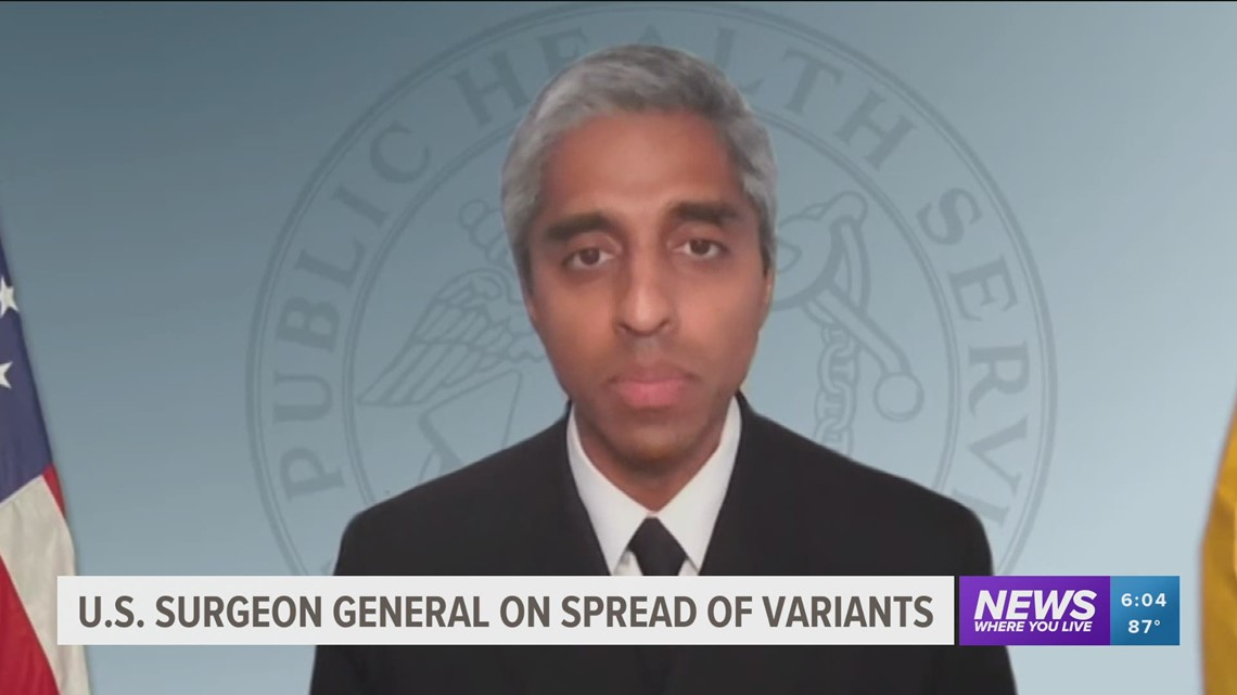U.S. Surgeon General warns of a new COVID-19 variant emerging