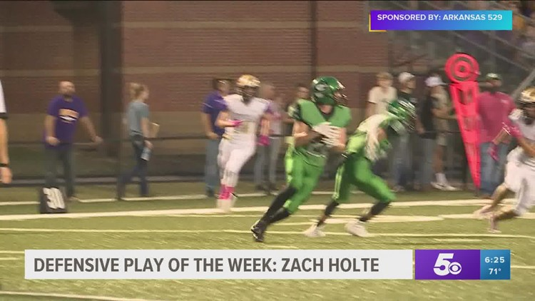 Defensive Player of the Week Zach Holte
