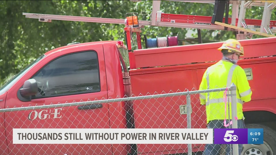 Thousands still without power in the River Valley