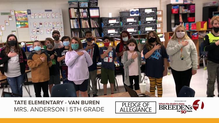 Mrs. Anderson 5th Grade Tate Elementary Van Buren