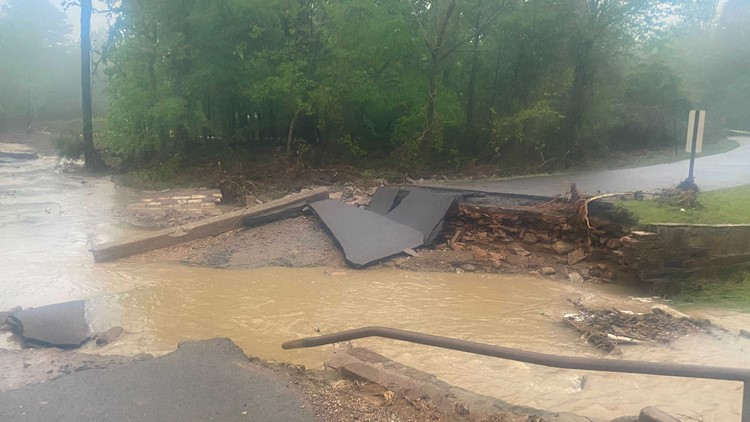 Flooding washes out parts of the River Valley