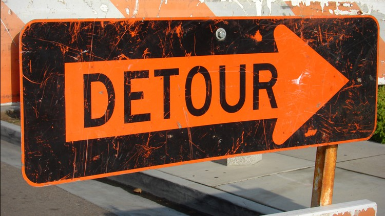 Construction work sending drivers on detour along I-40 between Clarksville & Ozark