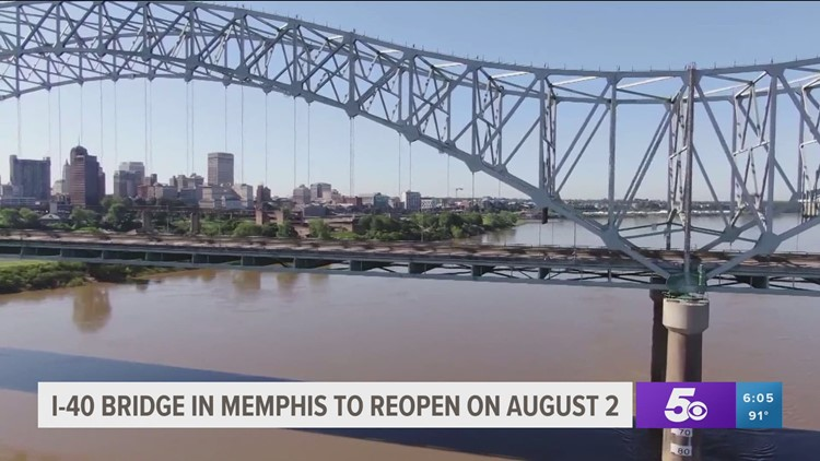 I-40 Mississippi River bridge partially reopens to limited traffic next week