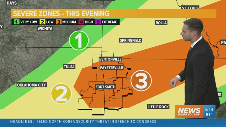 Severe storms likely this evening into tonight