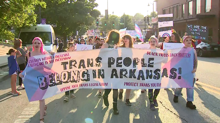 NWA Pride's first Trans March draws over 500 attendees to Fayetteville