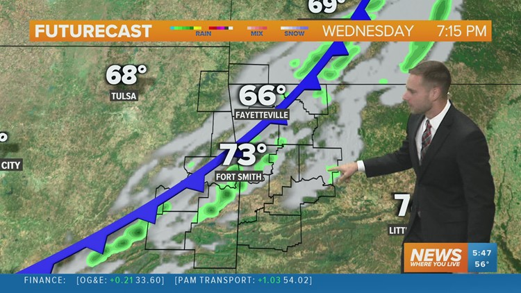 Few showers possible this afternoon into this evening