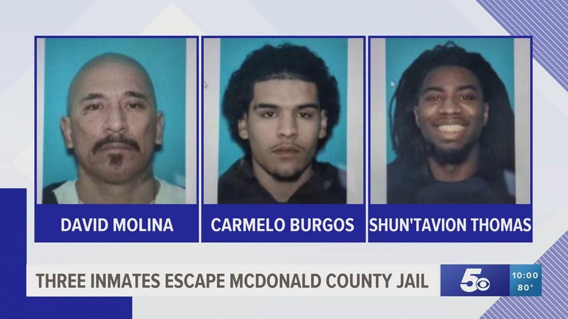 Three inmates escape from southwest Missouri jail