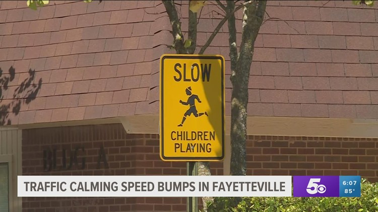 Speed cushions to be installed in Fayetteville as part of new traffic policy