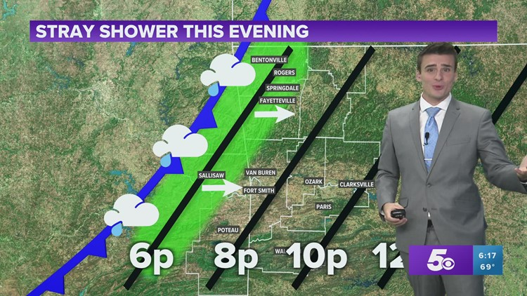 Sprinkles this evening but clearing out by Thursday morning   Oct 20 Forecast