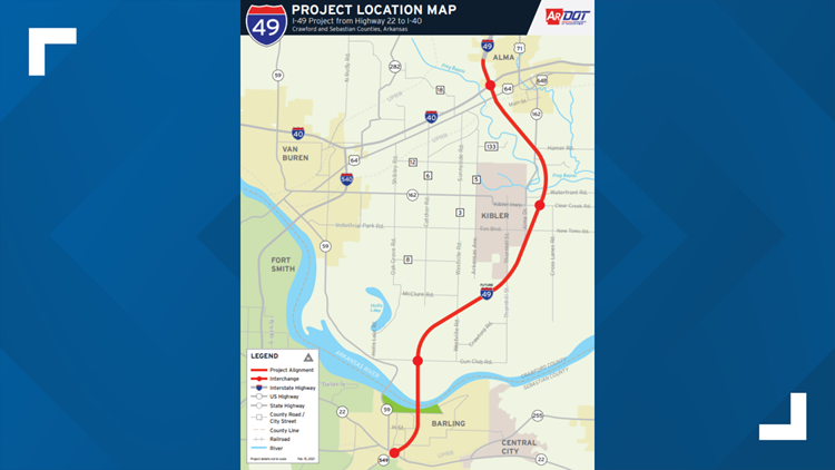 ARDOT reveals next phase of River Valley I-49 project