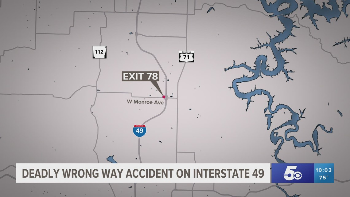 1 dead, 3 injured in I-49 crash; driver was traveling north in the southbound lanes in Lowell
