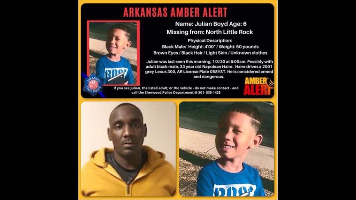 Arkansas Amber Alert Inactivated For Missing 6 Year Old Sherwood Boy 5newsonline Com