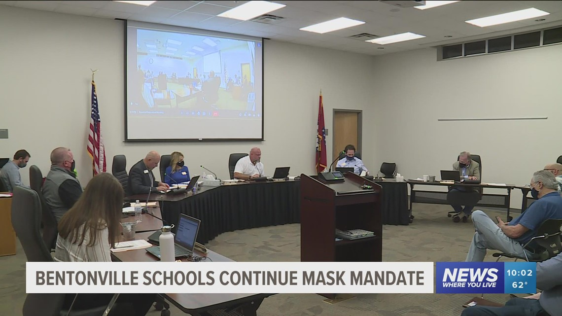 Bentonville Schools maintain mask policy