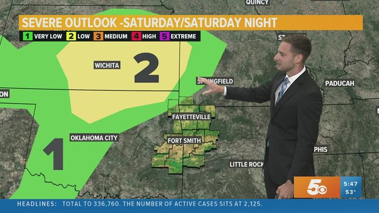 Storms chances increase this weekend