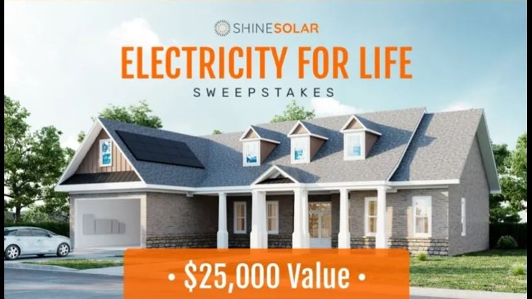 Shine Solar Free Electricity For Life Sweepstakes Fall 2020