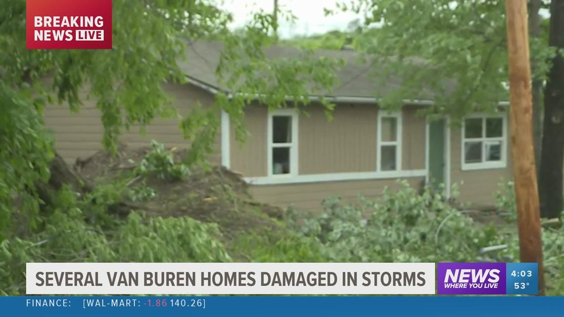 Several Van Buren homes damaged in storm
