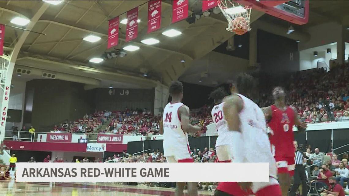 Arkansas men's basketball hosts annual Red-White game, Team White wins 74-63