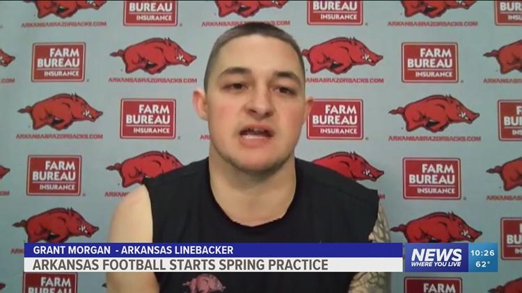 Hogs begin spring practice