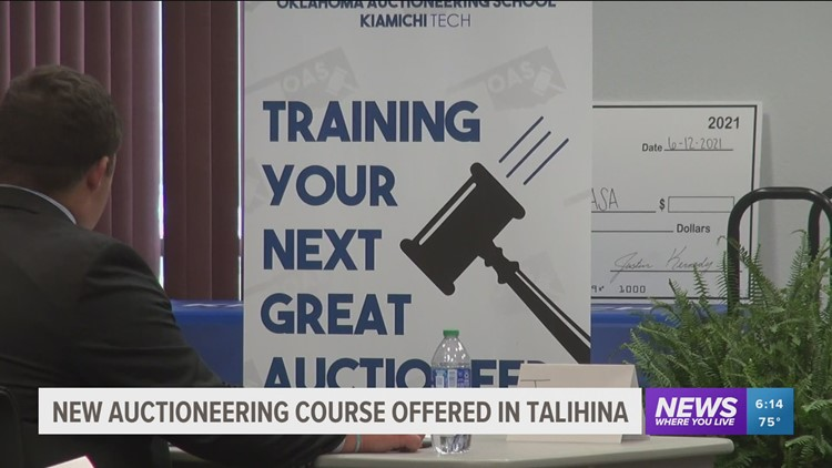 Talihina college teaching students how to auctioneer