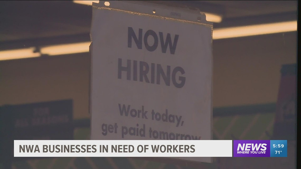Businesses having issues with low staffing
