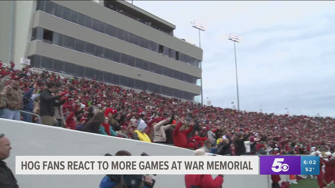 Hog fans react to more games at War Memorial Stadium