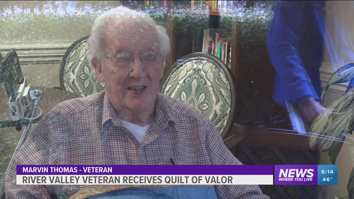 Fort Smith WWII Veteran honored with a Quilt of Valor