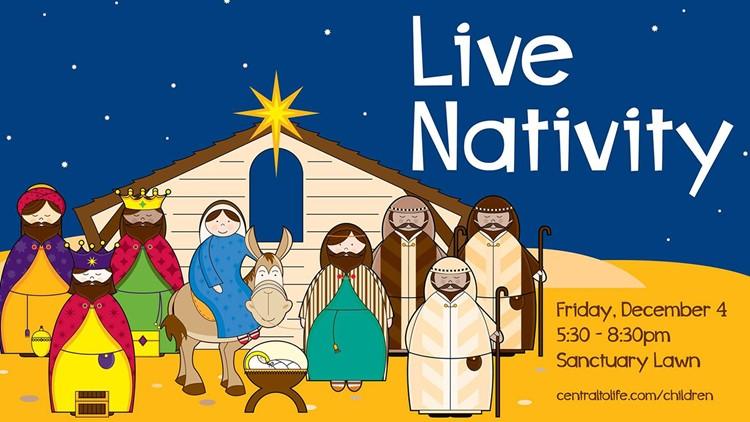Central United Methodist Church holds Live Nativity tonight on Dickson St.