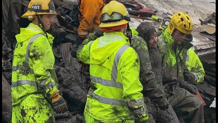 Firefighters Pull 14 Year Old From Home Leveled In Deadly California Flooding Mudslides 5newsonline Com