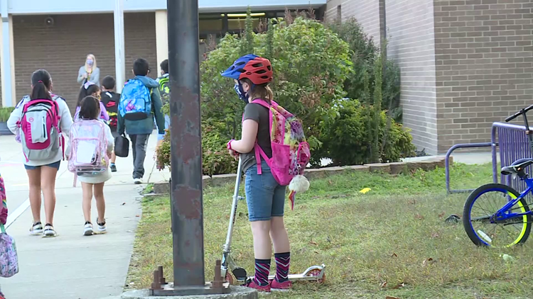 Local students participate in National Walk & Ride your Bike to School Day