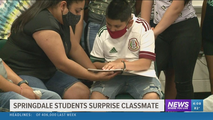 Springdale elementary students put together braille yearbook for visually-impaired classmate