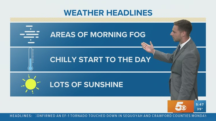 Lots of sunshine after a cold and foggy start