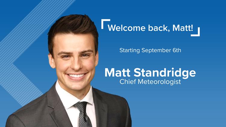 5NEWS names new Chief Meteorologist: Matt Standridge returns home to Arkansas