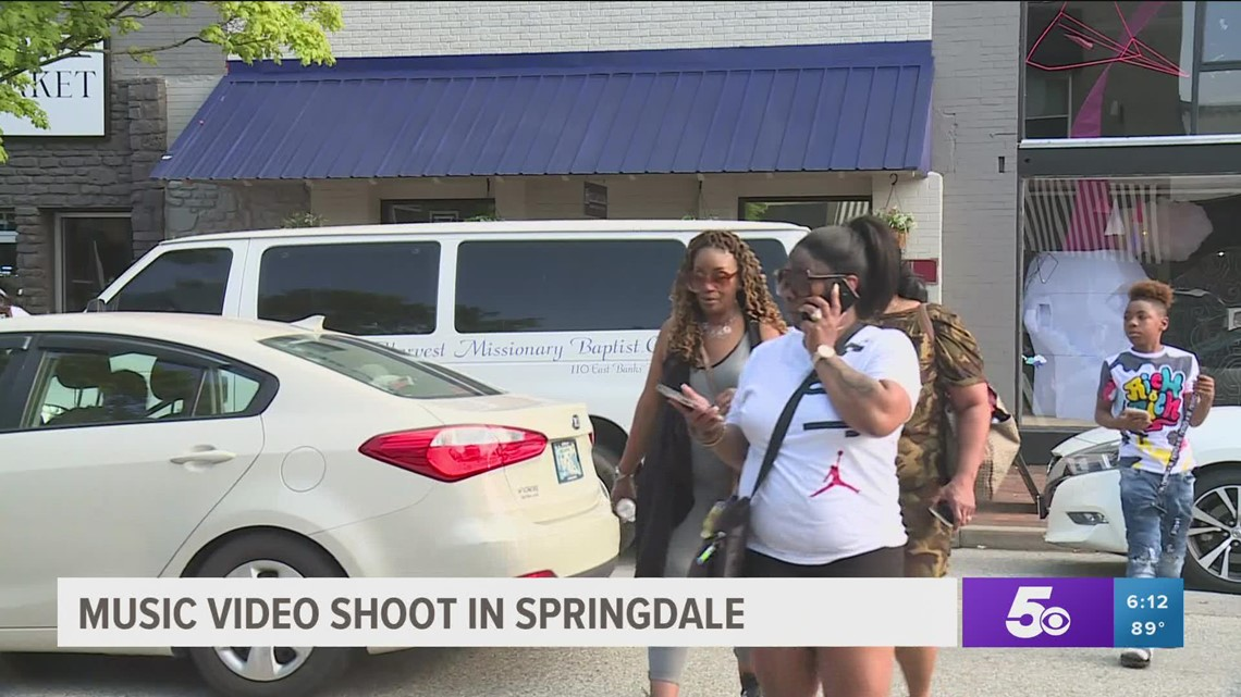 Music video shuts down Emma Ave. in downtown Springdale