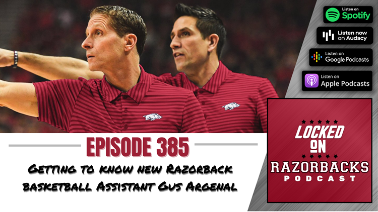 Locked on Razorbacks: New Razorback Basketball Assistant Coach Gus Argenal meets with media for 1st time