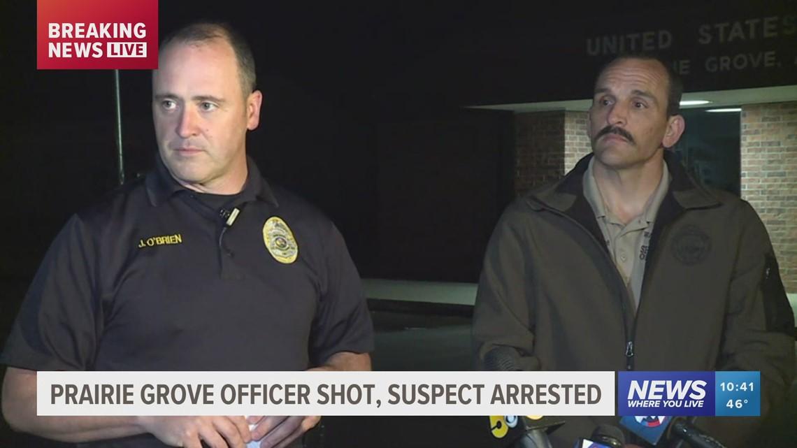 Prairie Grove Police officer shot during domestic disturbance
