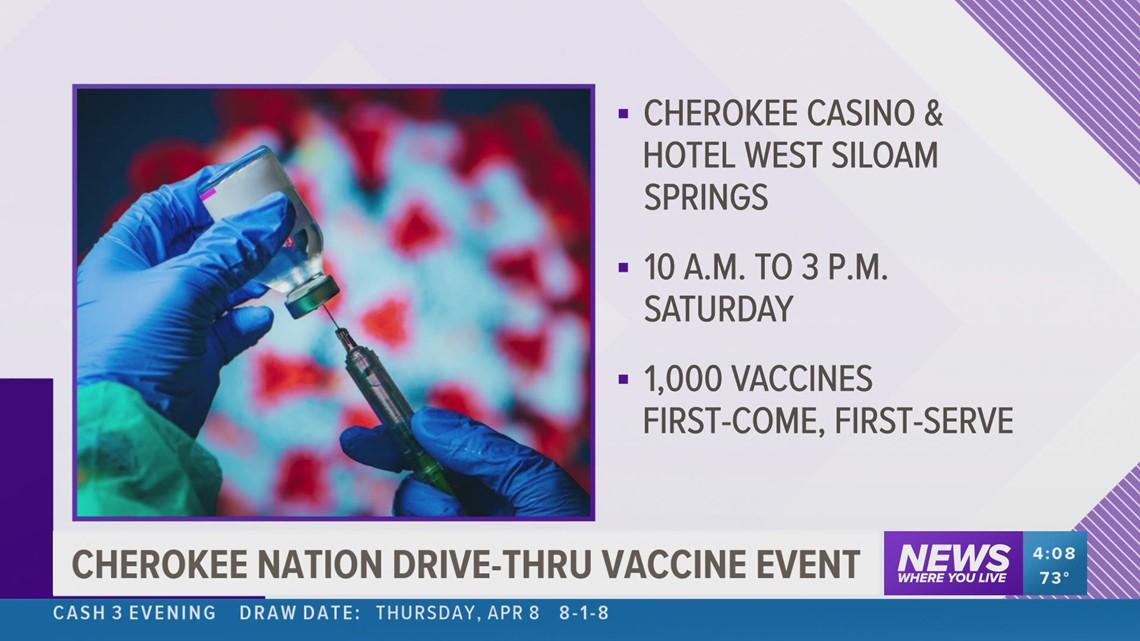 Cherokee Nation Drive-Thru vaccine event