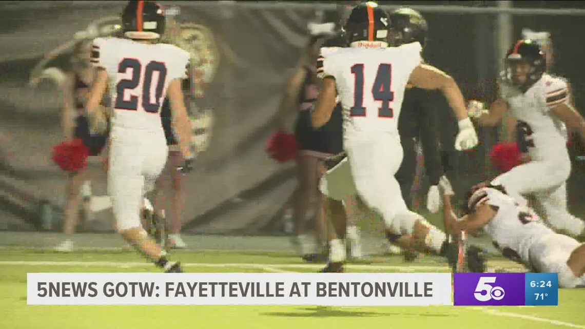 5NEWS Game of the Week: Fayetteville at Bentonville