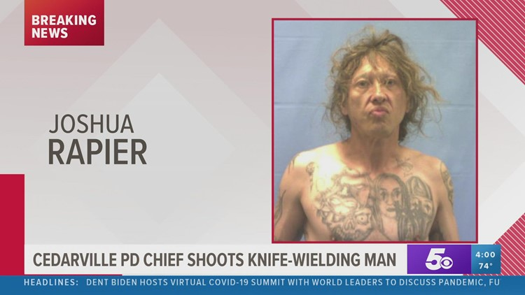 Police: Cedarville man shot in both hands after lunging at officers with knife