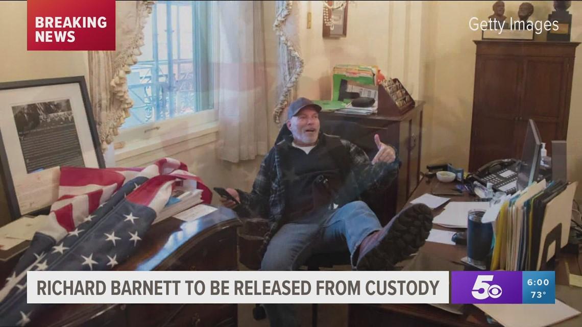Judge grants Capitol rioter Richard Barnett pre-trial release