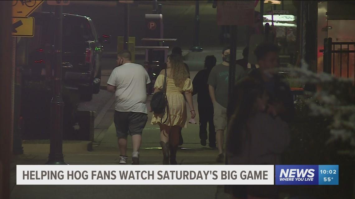 Helping Razorback fans watch Saturday's big game