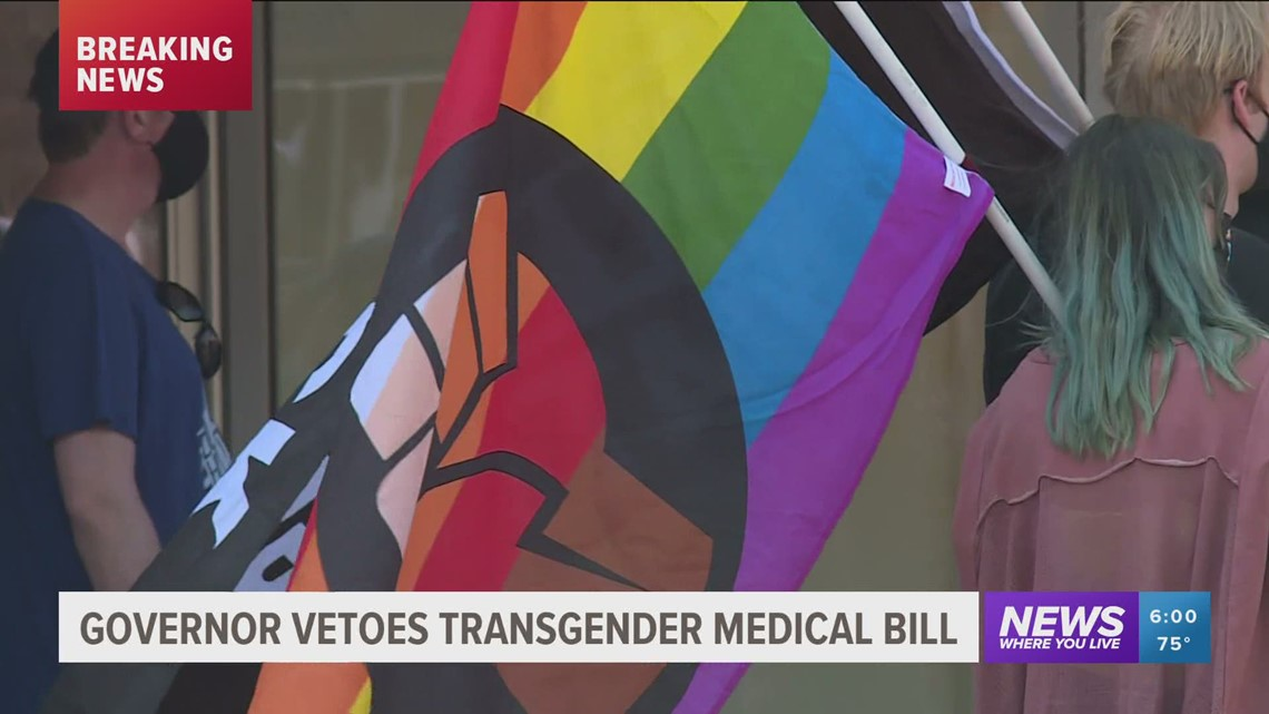 Gov. Hutchinson vetoes bill that would ban transgender youth treatment