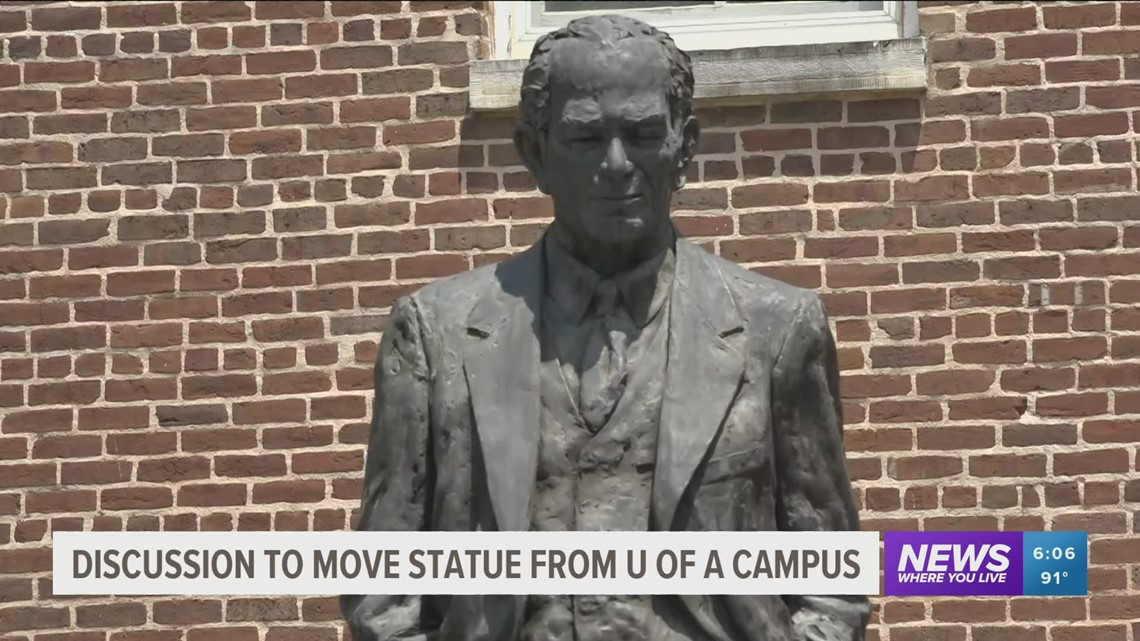 New law could stop moving of Fulbright statue from UA campus