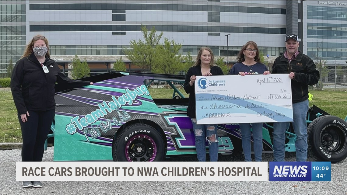 Race cars brought to NWA Children's Hospital