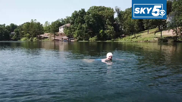'It's good exercise,' 91-year-old swims length of Lake Brittany every day