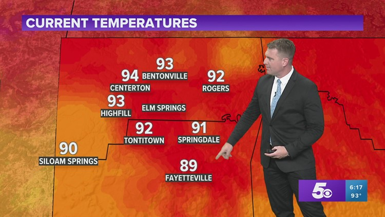 Hot weather continues for the rest of the week