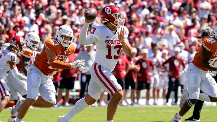 Oklahoma storms back to beat Texas on a last-minute touchdown