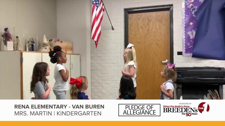 Mrs. Martin Kindergarten Rena Elementary, Van Buren