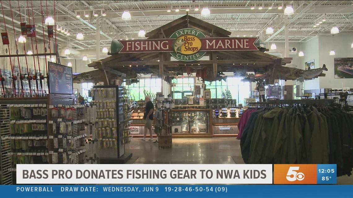Bass Pro donates fishing gear to NWA kids