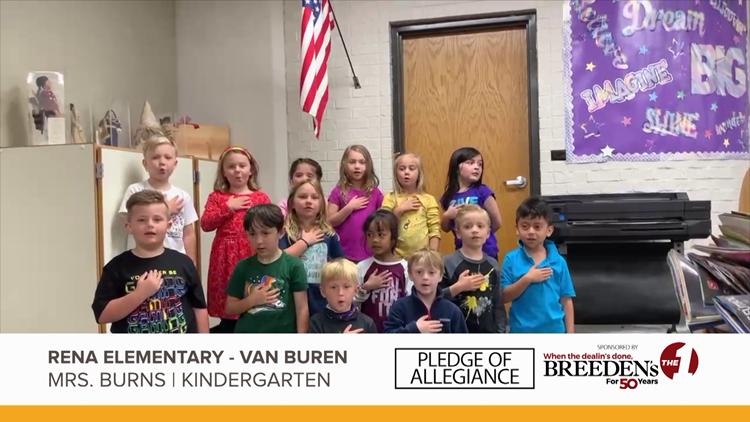 Mrs. Burns Kindergarten Rena Elementary, Van Buren
